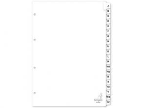 , Tabbladen Kangaro 4-gaats PK420Az 20-delig alfabet wit kart