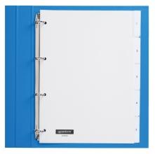 , Tabbladen Quantore 4-gaats 5-delig met venster wit PP