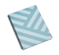 , Projectboek Multo A4 lijn met kleurverdeling blauw