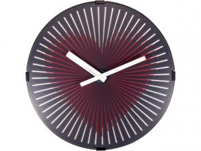 , Wandklok - Ø 30 cm Plastic Bewegende klok- Rood `Motion     Heart Red`