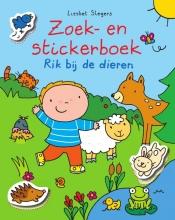 Liesbet  Slegers Rik Zoek en stickerboek Rik en de dieren