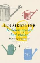 Jan Siebelink , Knielen op een bed violen (geïllustreerd)
