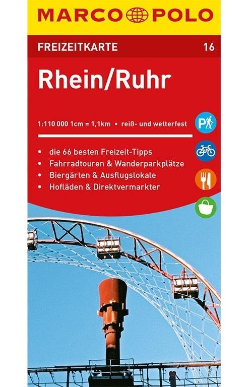 ,MARCO POLO Freizeitkarte Rhein, Ruhr 1:110 000