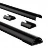 ,<b>Kabelkanaal Hama halfrond 110/3,3/1,8 cm aluminium zwart</b>