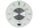 ,Wandklok NeXtime dia. 40 cm, melkglas, `Stripe Pendulum`