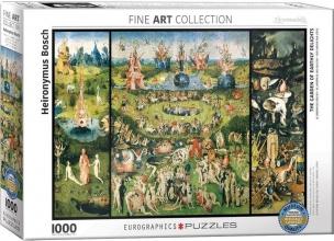 Eur-6000-0830 , Puzzel eurographics -the garden of earthly delights - 1000 stukjes 48x68 cm