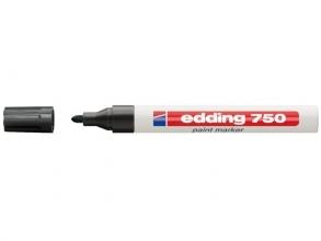 , Viltstift edding 750 lakmarker rond zwart 2-4mm