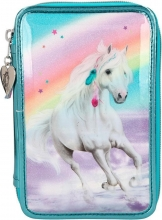 , Miss melody 3-vaks etui rainbow