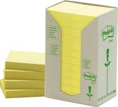 , Memoblok 3M Post-it 653 38x51mm recycled geel