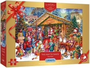 Gib-g2020 , Puzzel this way to santa 1000 stuks limited edition