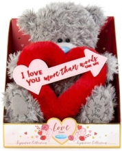Vp901015 , Me to you - knuffel - beer - cupido - i love you more than words can say - 19cm