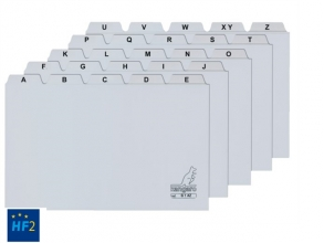 , Alfabet HF2 85x105mm PP grijs