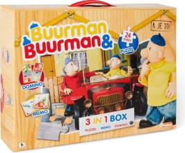 , Buurman & Buurman 3-in-1 Box (Puzzel+Memo+Domino)