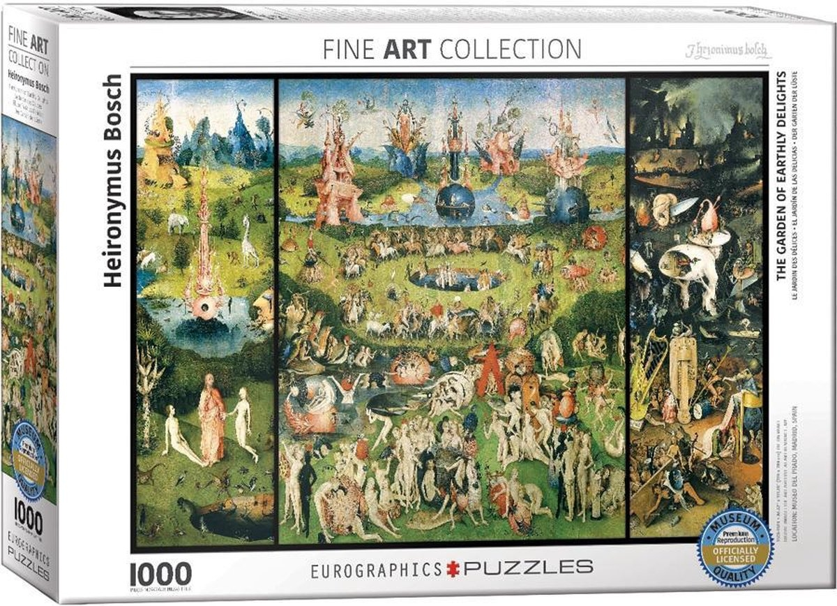 Eur-6000-0830,Puzzel eurographics -the garden of earthly delights - 1000 stukjes 48x68 cm