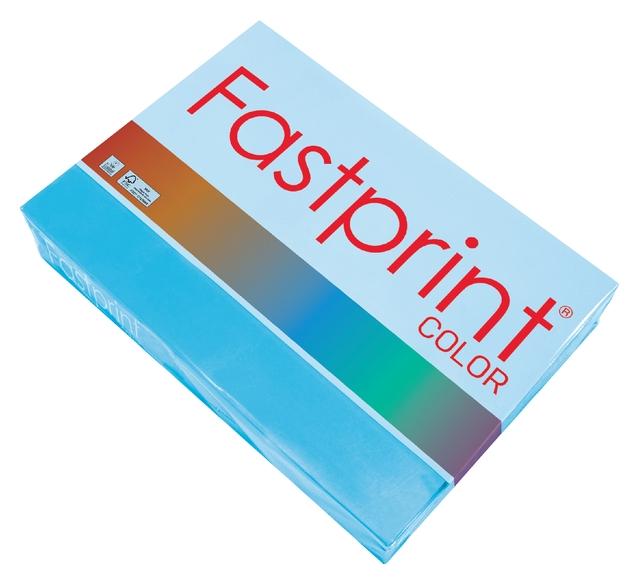 ,Kopieerpapier Fastprint A4 80gr azuurblauw 500vel
