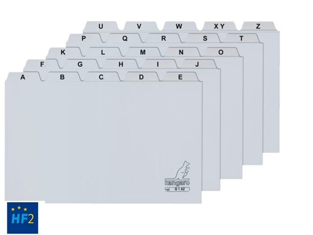 ,Alfabet HF2 85x105mm PP grijs