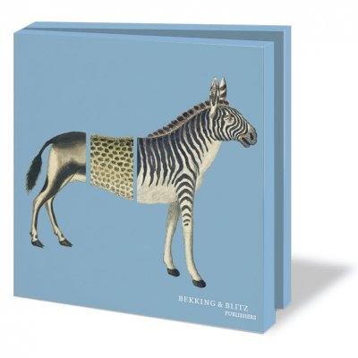 Wmc730,Notecard pak 10 stuks 15x15 cm museumcards dieren