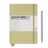 <b>Lt354592</b>,Leuchtturm notitieboek medium 145x210 lijn zandkleurig