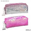 <b>0010416 a</b>,Topmodel etui, met stijkpailletten, pink