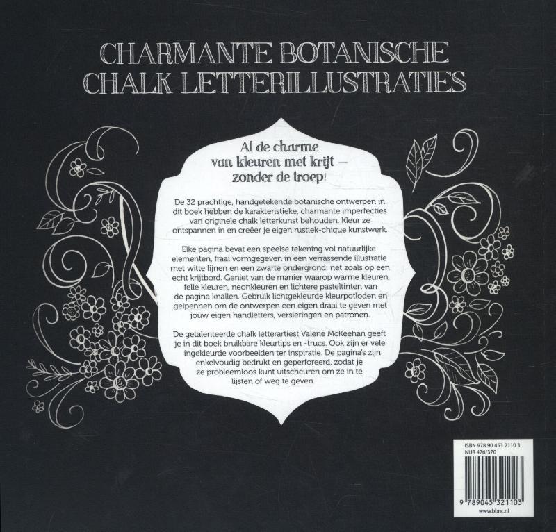 ,Chalk letteren Botanica kleurboek