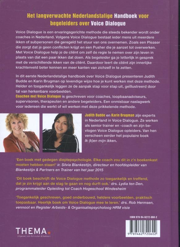 Judith Budde, Karin Brugman,Coachen met voice dialogue