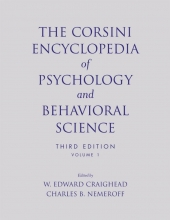 Craighead, W. Edward The Corsini Encyclopedia of Psychology and Behavioral Science, Volume 1