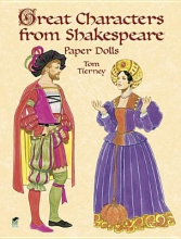 Tom Tierney Great Characters from Shakespeare Paper Dolls