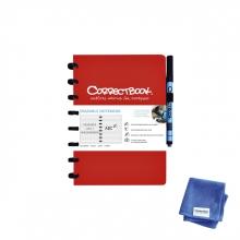 , Notitieboek Correctbook uitwisbaar en herbruikbaar A5 blauw lijn 40blz