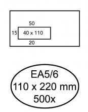 , Envelop Quantore 110x220mm venster 4x11cm links zelfkl 500st