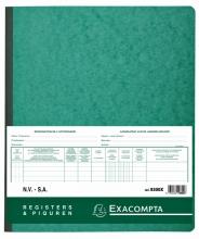 , Register Piqure aandeelhouder NV/SA 250x320mm 80vel groen