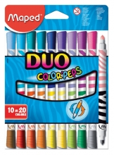 , Viltstift Maped Color`peps duo karton ophangdoos 10stuks
