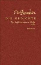 Bernstein, F. W. Die Gedichte