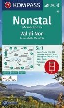 , KOMPASS Wanderkarte Nonstal, Mendelpass, Val di Non, Passo della Mendola 1:50 000