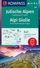 KOMPASS-Karten GmbH , KOMPASS Wanderkarte Julische Alpen, Nationalpark Triglav, Alpi Giulie 1:25 000