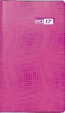 Taschenkalender Taschenplaner int. 2018 pink. 2 Seiten = 1 Woche, 87 x 153 mm