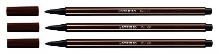 , Viltstift STABILO Pen 68/45 bruin