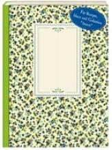 NoteBook - Wachstuch Blaue Blümchen