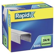 , Nieten Rapid 24/6 gegalvaniseerd standaard 5000 stuks