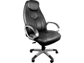 , Design bureaustoel met maximaal zitcomfort in hoogte        verstelbaar, zwart