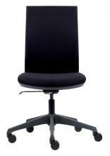 , Bureaustoel Euroseats Canillo gestoffeerde rug zwart