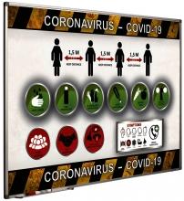 , Preventiebord Corona maatregelen Nederlandstalig 60x90cm