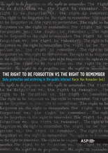 , The right to be forgotten vs the right to remember
