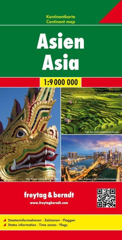 ,Asien, Kontinentkarte 1:9 000 000