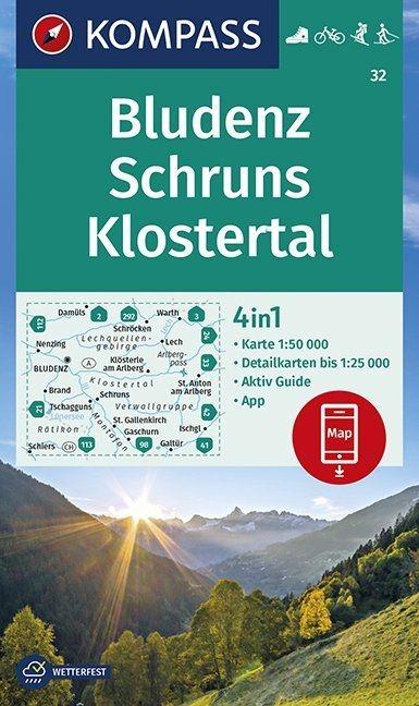 ,KOMPASS Wanderkarte Bludenz, Schruns, Klostertal 1:50 000