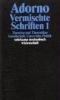 Adorno, Theodor W.,Vermischte Schriften (2 Bd.)