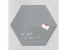 ,glasmagneetbord Sigel Artverum 400x460x15mm zeskantig grijs