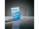 ,info/prijsstandaard Sigel acryl transparant doos a 10 stuks