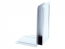 ,boekensteun Alco 130x240x140mm metaal 2 stuks in doos wit