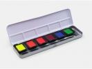 ,<b>Verftablet 30x22mm Neon Aquarellcolors, 6 stuks in blik,    Finetec</b>