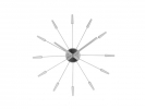 ,Wandklok NeXtime dia. 58 cm, metaal, zilver, `Plug inn`